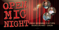Open Mic Night November 15